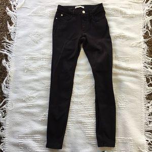 Zara basic stretch skinny pants black jeans